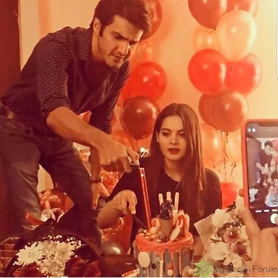 minal khan birthday with ahsan ikram