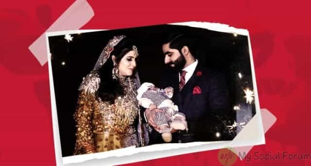 baby attends his parents Walima