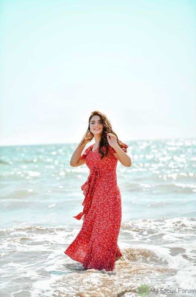 dananeer mobeen on beach