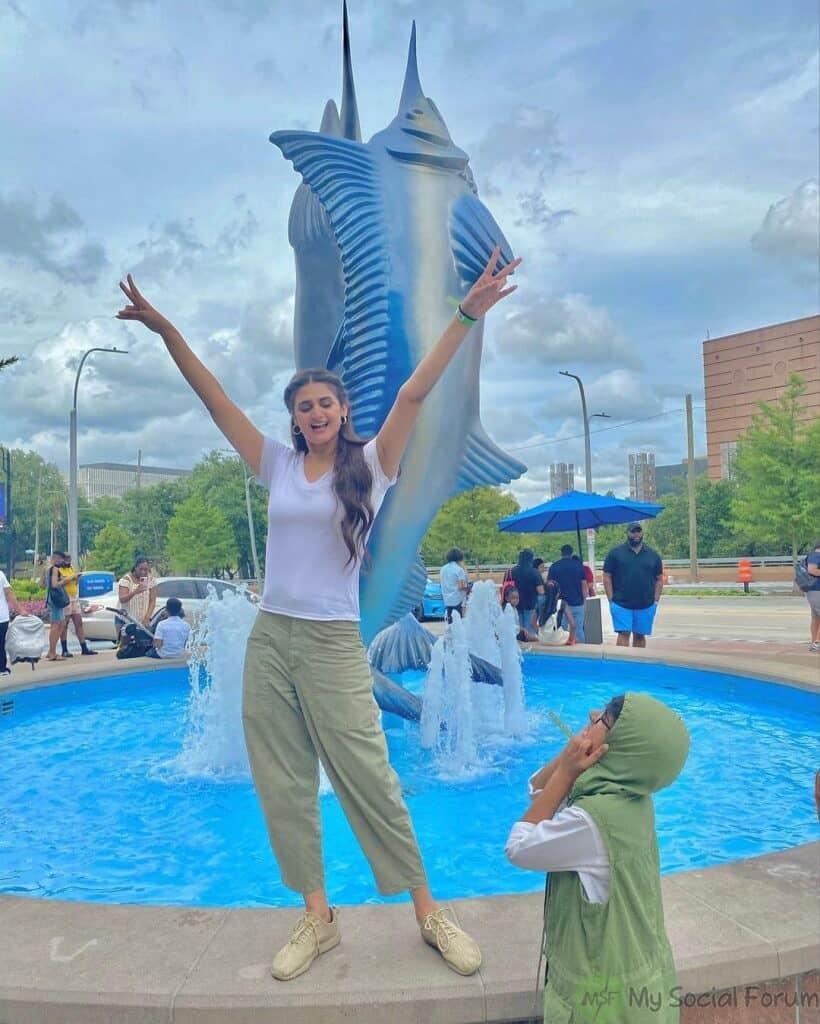 Hira Mani Vacationing In Texas