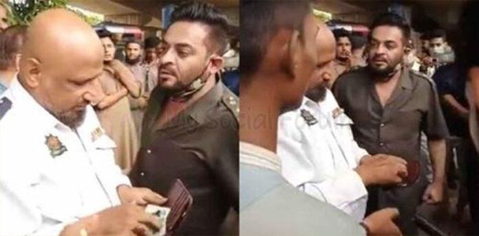 Aamir Liaquat Blasts Traffic Warden